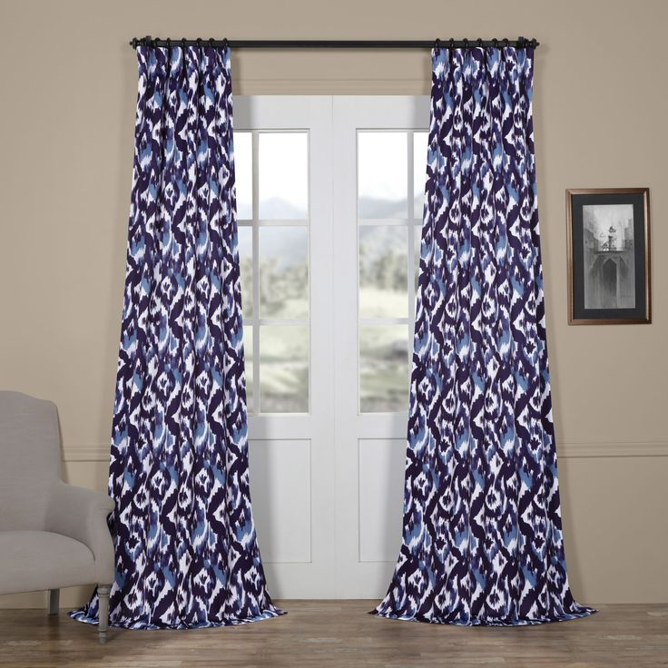 Bukhara Blue Blackout Curtain – HalfPriceDrapes!