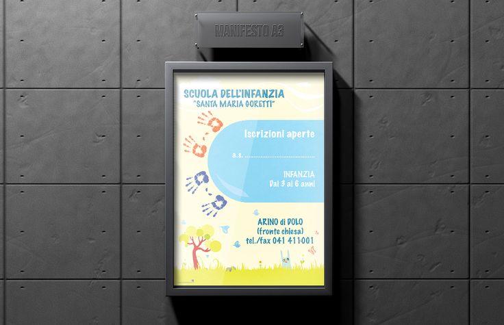 Manifesti A3 - Scuola Dell'Infanzia Materna | #posters #poster #design #kindergarten - #pixeldesign