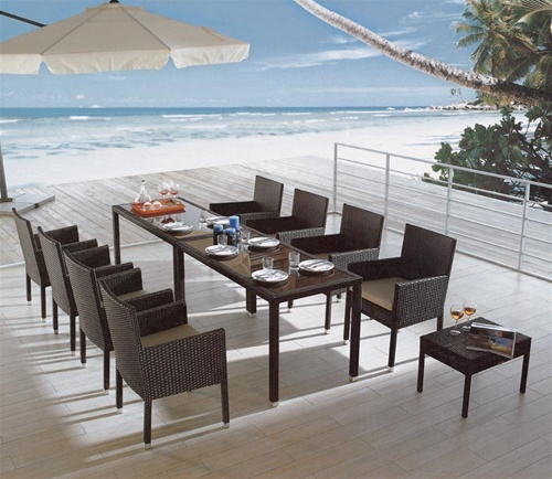 Paige Patio Dining Set Tropical Patio Furniture And Outdoor Furniture