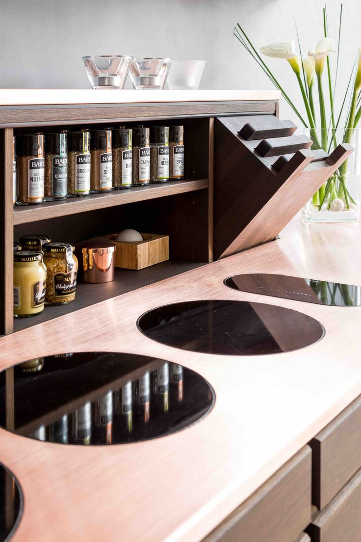 Form 1 // Smoked oak with a copper countertop kitchen by Multiform