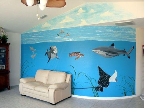 Ocean Painted Wall Mural | Ocean Murals In Naples And Bonita Springs Part 71