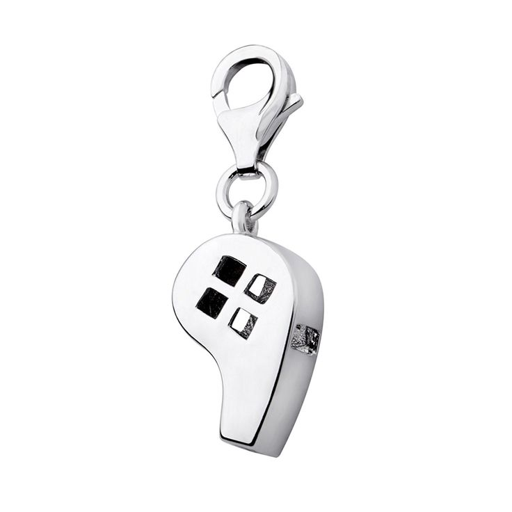 Oscaro Charms 925 Sterling Silver Whistle Clip on Charm for Thomas Sabo style bracelets and necklaces -- You can find out more details at the link of the image. #Charms