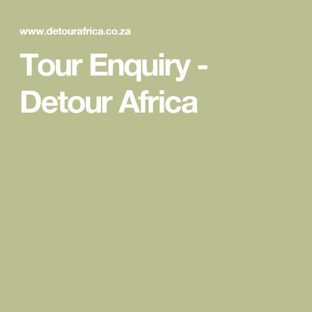 Tour Enquiry - Detour Africa