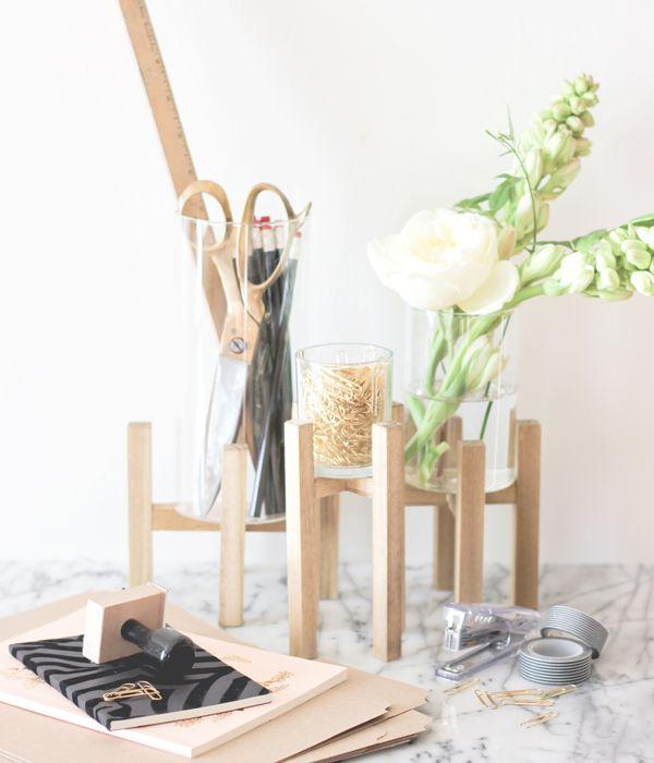 28 best images about diy office on pinterest copper - Glass desk organizer ...
