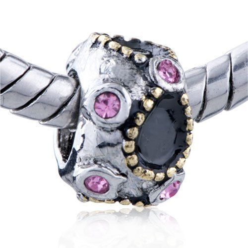 Pugster Bead October Birthstone Black Bowknot European Charm Bead Fit Pandora Chamilia Biagi Charm Bracelet Pugster. $9.99. Unthreaded European story bracelet design. Pugster are adding new designs all the time. Money-back Satisfaction Guarantee. Fit Pandora, Biagi, and Chamilia Charm Bead Bracelets. Free Jewerly Box. Save 20%!