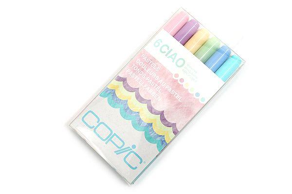 JetPens.com - Copic Ciao Marker - 6 Color Set - Pastels