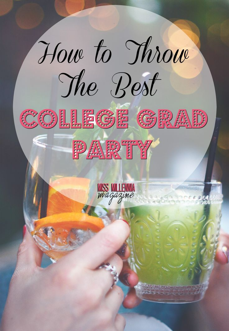 How to Throw THE BEST College Grad Party #ad
