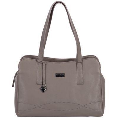 Cultured London Dark grey 'Lorin' soft leather handbag | Debenhams