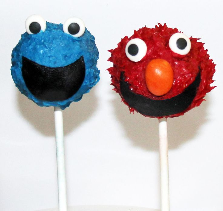 Cookie Monster and Elmo Cake Pops Like us at www.facebook.com/melianndesigns