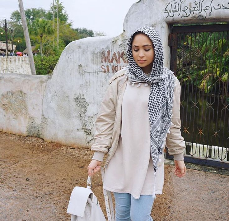 Hijab + Bomber Jacket + Light Shades (mariaalia)