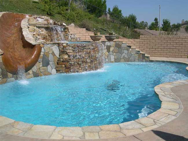Flagstone brick pool google search best pool material for Natural stone around pool