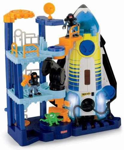 Fisher-Price Imaginext Space Shuttle and Tower Fisher-Price http://www.amazon.com/dp/B001W1R0KE/ref=cm_sw_r_pi_dp_2wXjub1JVWV7W