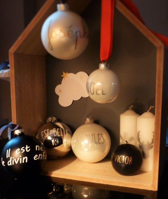 Boules de noël personnalisées Byrosekaki.wordpress.com