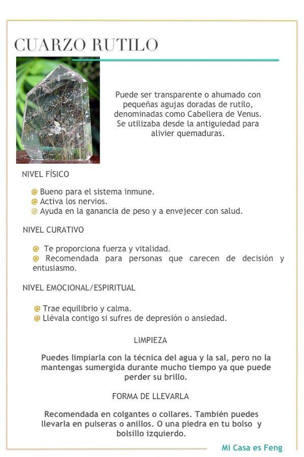 Gemas: Cuarzo Rutilo / Rutilado