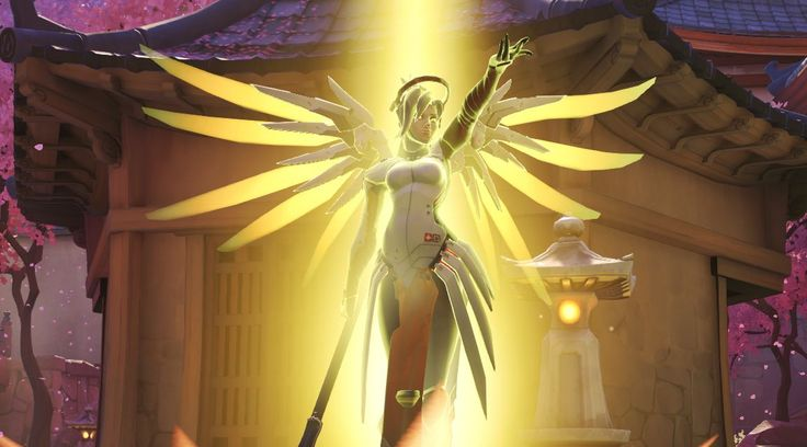 This Overwatch glitch makes Mercy's wings extend and glow, perhaps too glorious to be an accident