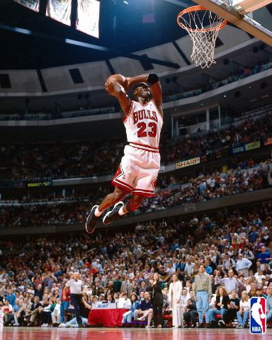 Slam Dunk - Michael Jordan Number 23 - Chicago Bulls - Air Jordan - Slam Dunk!