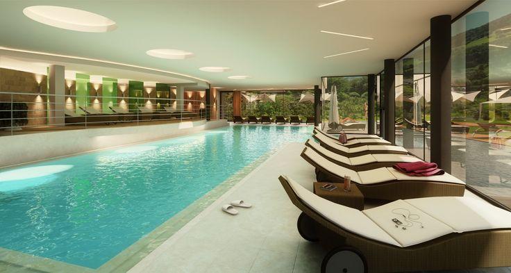 Unser neuer Indoor Pool La nostra nuova piscina indoor