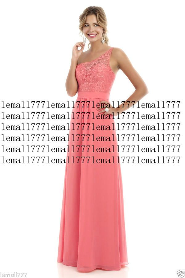 8d1cb9dc8e0 New Lace One-shoulder Long Evening Formal Party Ball Gown Prom Bridesmaid  Dress Evening Formal Long