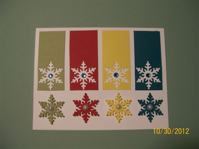 snowflakes in silhouette by muscrat - Cards and Paper Crafts at Splitcoaststampers