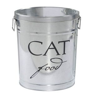 Classic Silver Cat Food Storage Canister