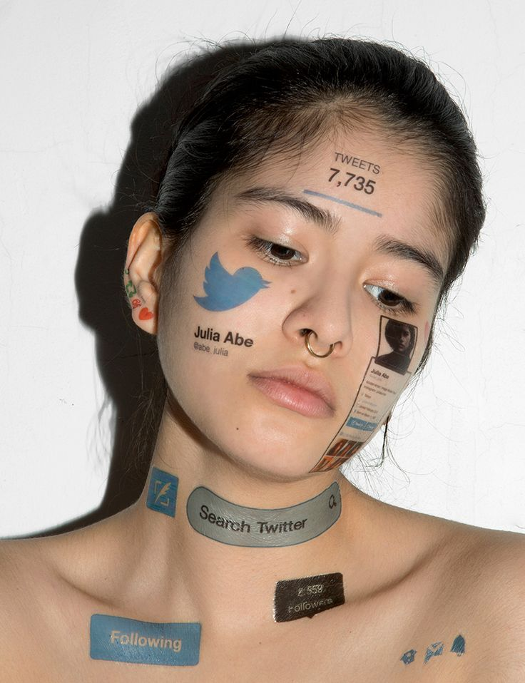john yuyi, a taiwanese-born, new york-based artist, emphasizes our obsession with social media by affixing digital symbols to the human body as temporary tattoos.
