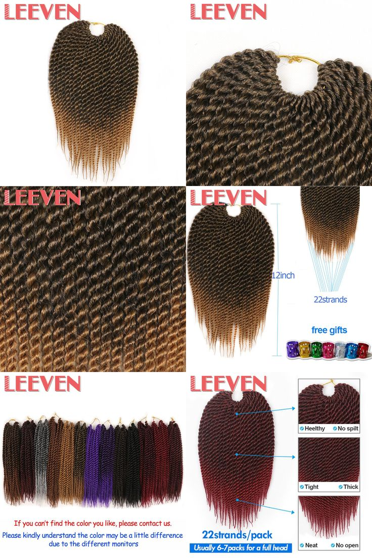 [Visit to Buy] Leeven 12'' Senegalese Twist Crochet Hair Short Braids 1pcs/lot Synthetic Braiding Hair Extensions High Temperature Fiber #Advertisement