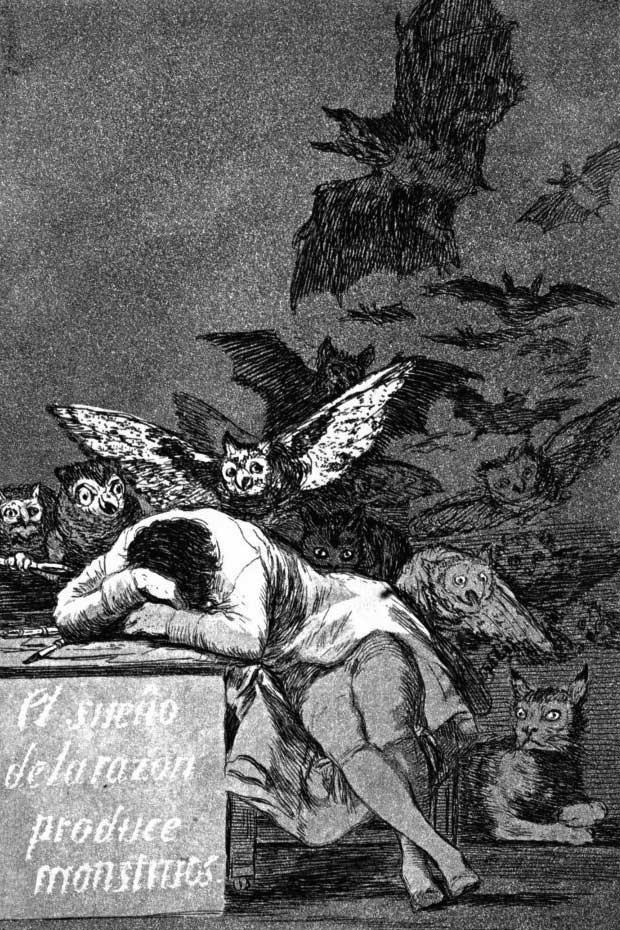 El sueño de la razón produce monstruos (Il sonno della ragione genera mostri) - Francisco Goya