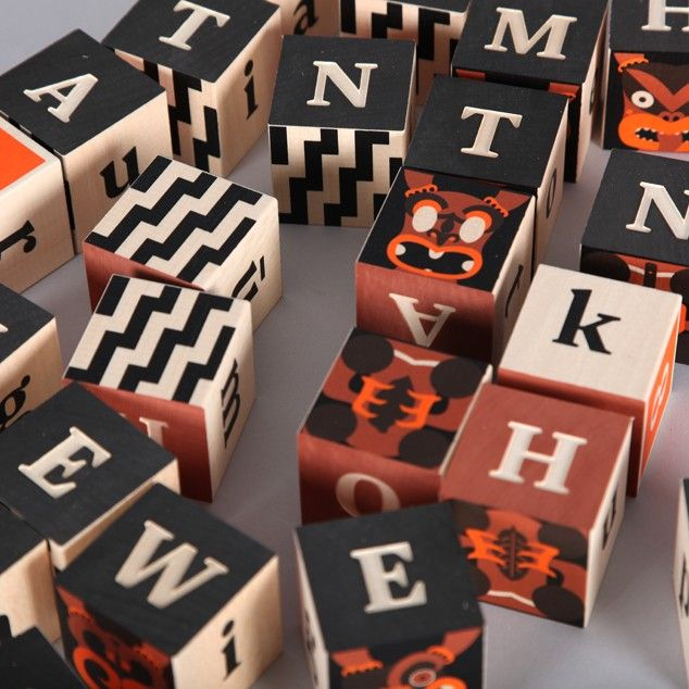 Maori Alphabet Blocks - Gifts NZ Art Prints, Design Prints, Posters & NZ Design Gifts | endemicworld