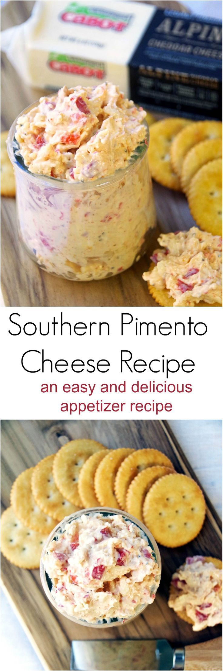 Make this traditional southern pimento cheese recipe for a deliciously easy appetizer.  Spread on crackers or scoop up with celery or tortilla chips! via @DianeHoffmaster
