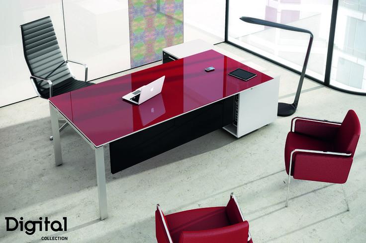 #Mobiliario para oficinas y despachos #Luxe Digital Gloss. Más posibilidades de #decoración y #combinación de materiales y productos #Alvic. #Arquitectura, #decor, #Interiorismo.