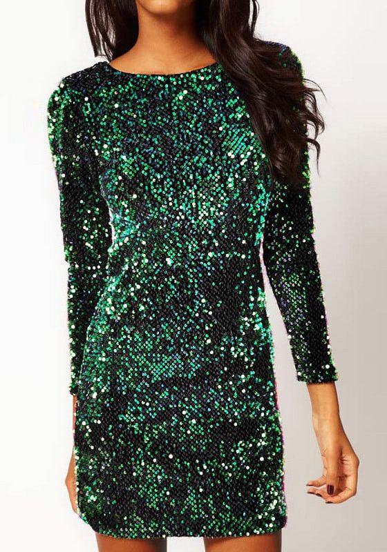 17 Best ideas about Green Sequin Dress on Pinterest | Emerald gown ...