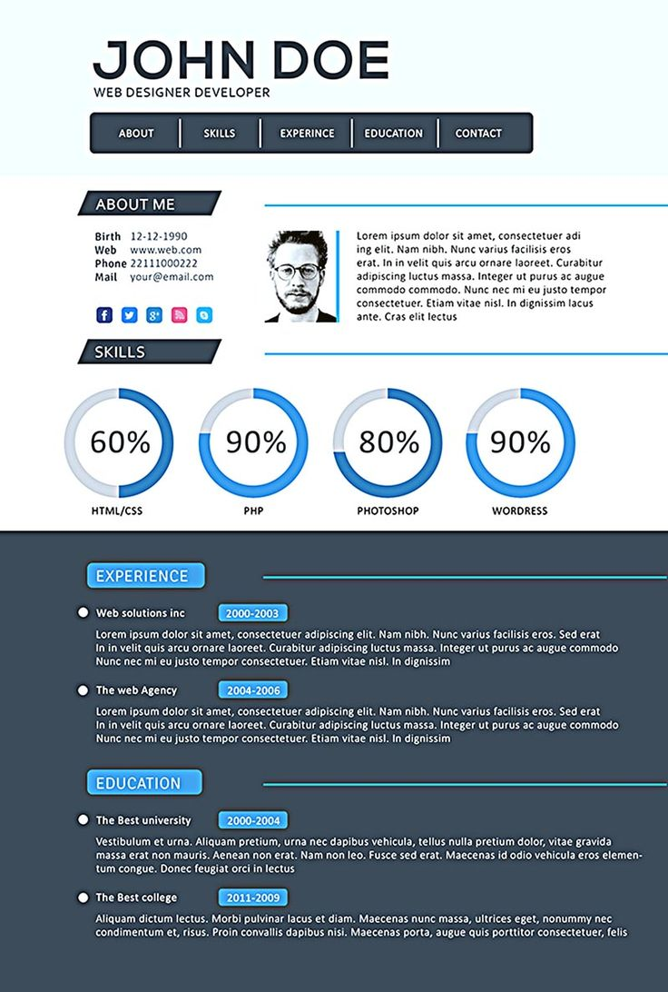 Best Web Developer Resume Template Psd Images On