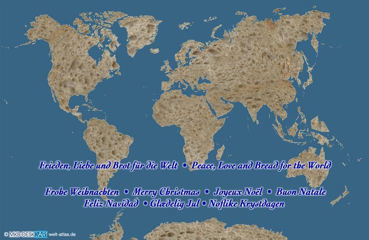 Karte von WEIHNACHTEN Kontinente (WELT)