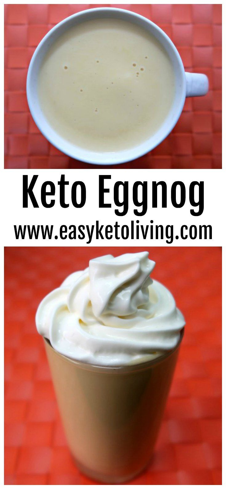 Low Carb Eggnog Recipe - Keto Egg Nog Dessert that's sugar free, creamy and delicious. #ketoeggnog