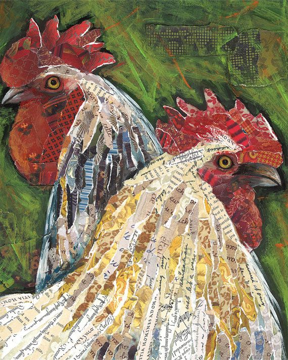 Hey, I found this really awesome Etsy listing at https://www.etsy.com/listing/266624236/at-the-farm-rooster-art-by-lori-siebert