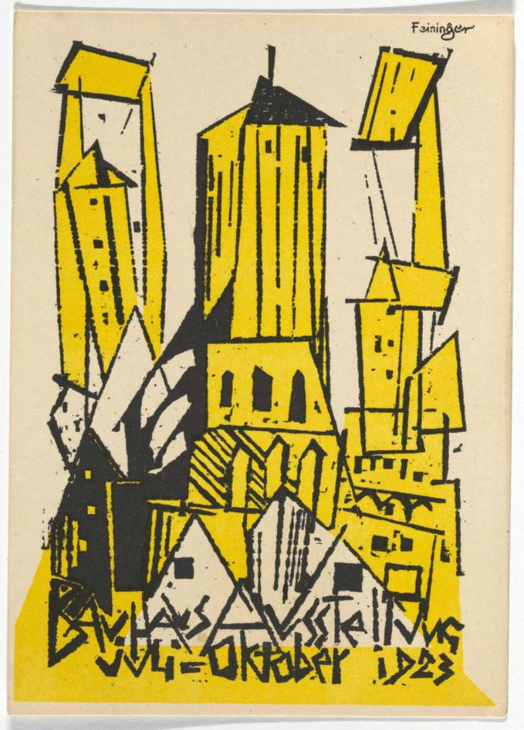 the bauhaus manifesto and design The founding image of the bauhaus was the cubist-like cathedral designed by lyonel feininger for the 1919 bauhaus manifesto modern design, bauhaus.