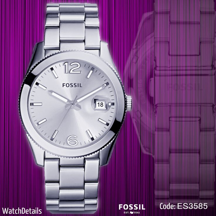 Check out http://goo.gl/tNKDy8 Perfect Boyfriend Three-Hand Date Stainless Steel Watch #Fashion #women #Fossil