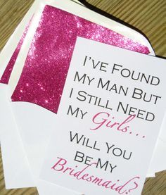 Be My Bridesmaid Cards-Repin by Inweddingdress.com    #weddings