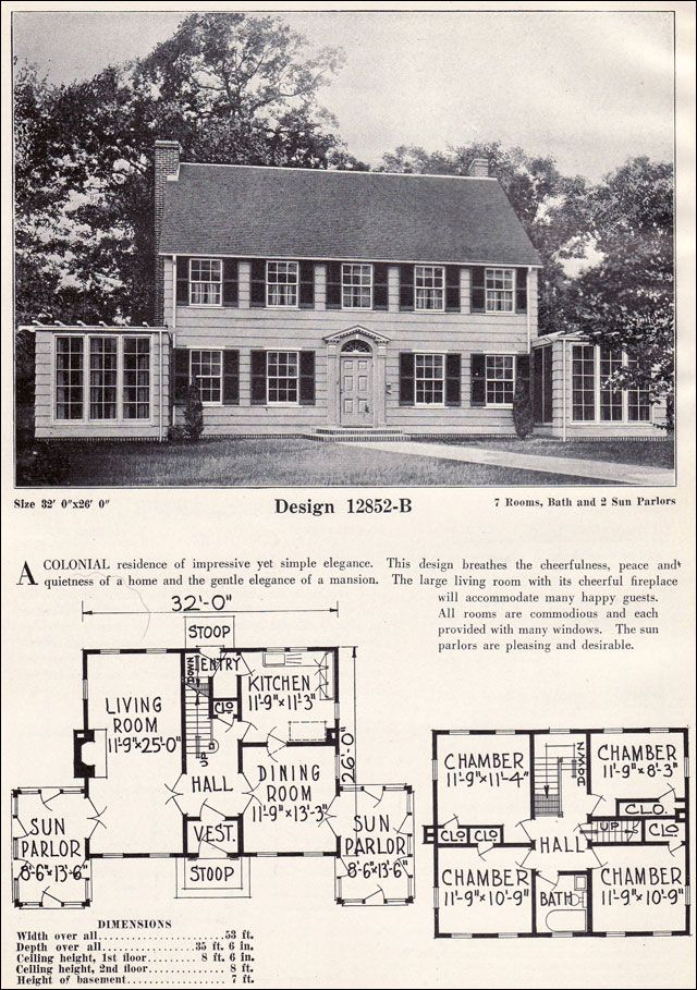 1000 images about house plans vintage on pinterest for Antique colonial house plans