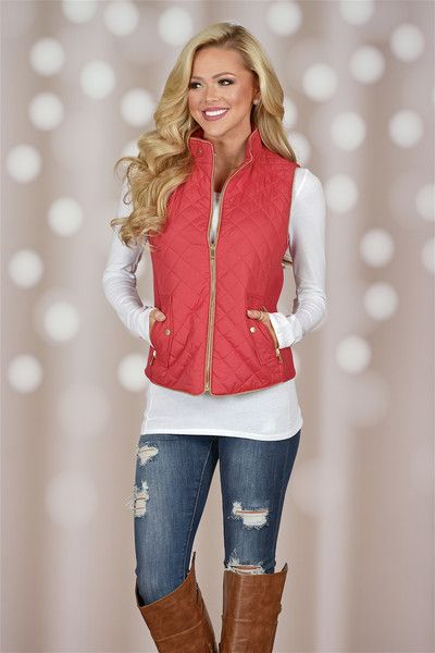 More To Explore Quilted Puffer Vest - Rose