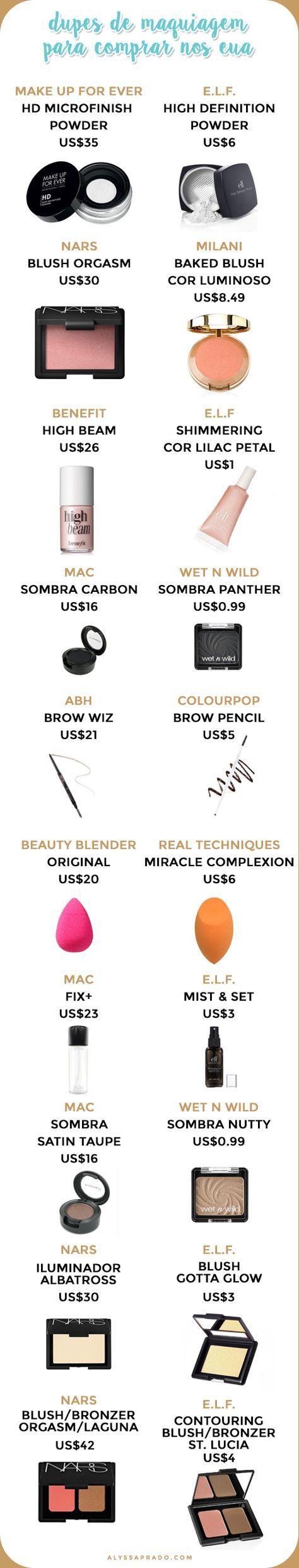 Tem uma lista enorme de produtos de beleza para comprar na viagem mas quer economizar um pouco? Então clique no link e descubra os 10 melhores dupes de maquiagem para comprar nos Estados Unidos!