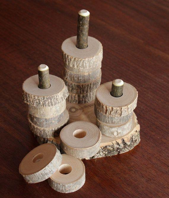 Bambin branche Stacker naturel jouets Waldorf par NaturalEarthFarm