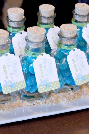 under the sea dreaming blue and green baby shower