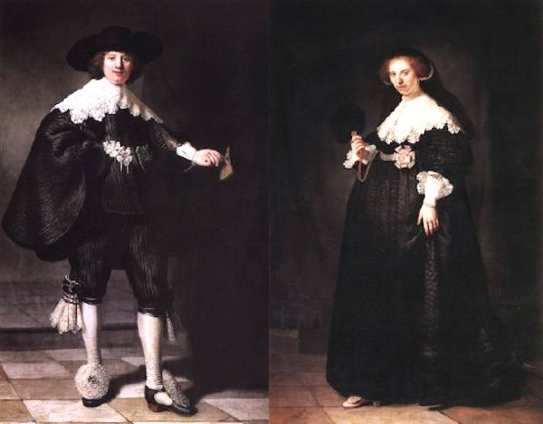 Portraits of Marten Soolmans and his future wife Oopjen Coppit by Rembrandt