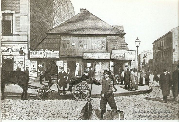XVIII-wieczny drewniany dworek u zbiegu ul.Ząbkowskiej i ul. Targowej. Był to całkowicie drewniany budynek zwrócony fasadą do ulicy Ząbkowskiej. Miał wysoki gontowy dach i po prawej stronie był przedłużony wielce oryginalną oficyną parterową z podcieniem wspartym na słupach. Stał do 1938 roku. Dziś w jego miejscu znajduję się pusty plac.  Fot. Dawna Warszawa