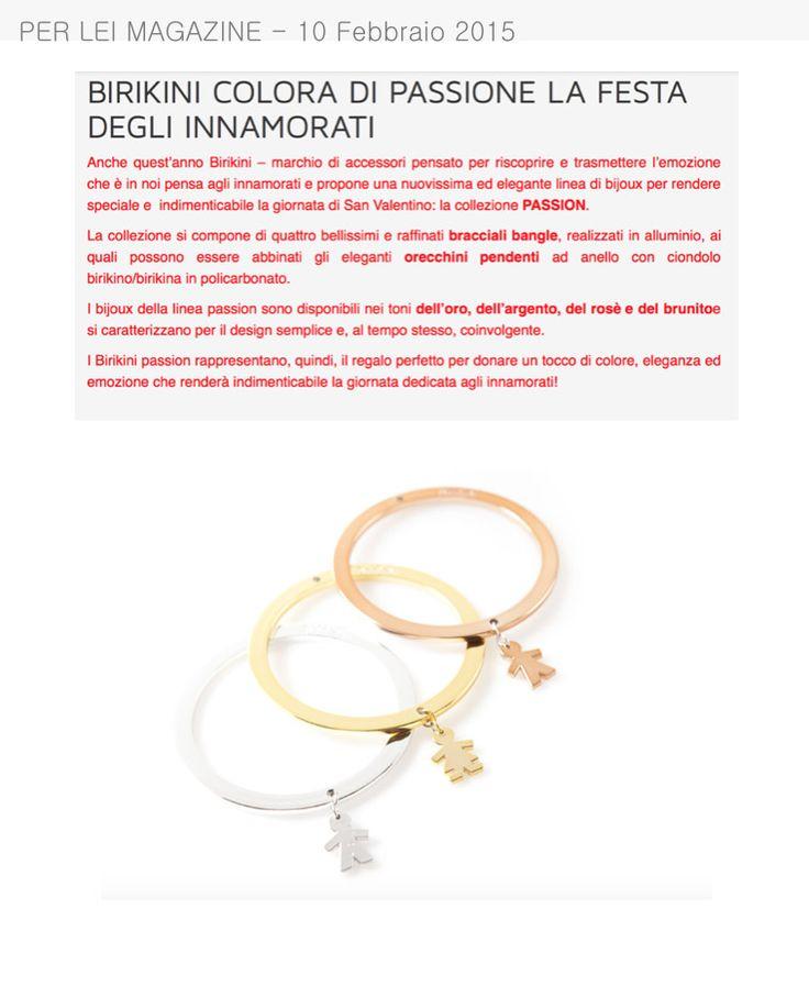 Per Lei Magazine parla della collezione #passion by #birikini
