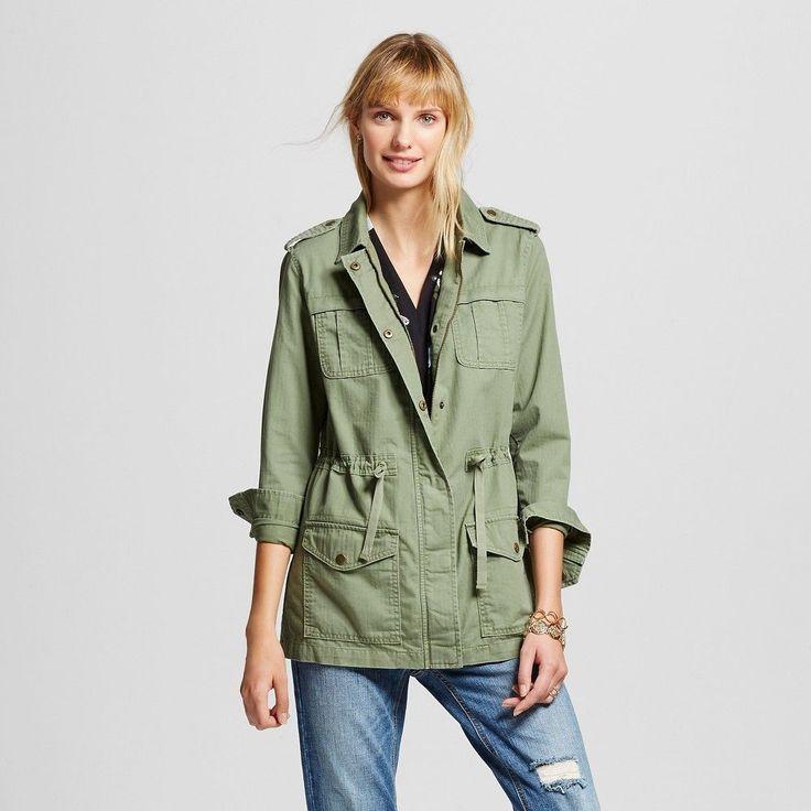 Women's Utility Jacket Green M - Merona, Healthy Green