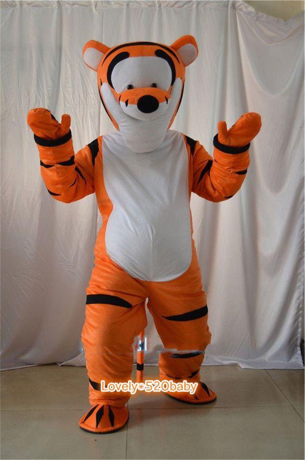 c5fbdd6a12b7 2019 Tigger Mascot Costume Winnie the Pooh Cosplay Party Fancy Dress Adult  Suits Costume Winnie Pooh