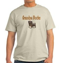 This Grandpa shirt, Grandpa Rocks Light T-Shirt, is a great Holiday or any day gift for the grandpa with a sense of humor. Available in many sizes, styles and colors,  Grandpa will enjoy wearing this funny shirt.