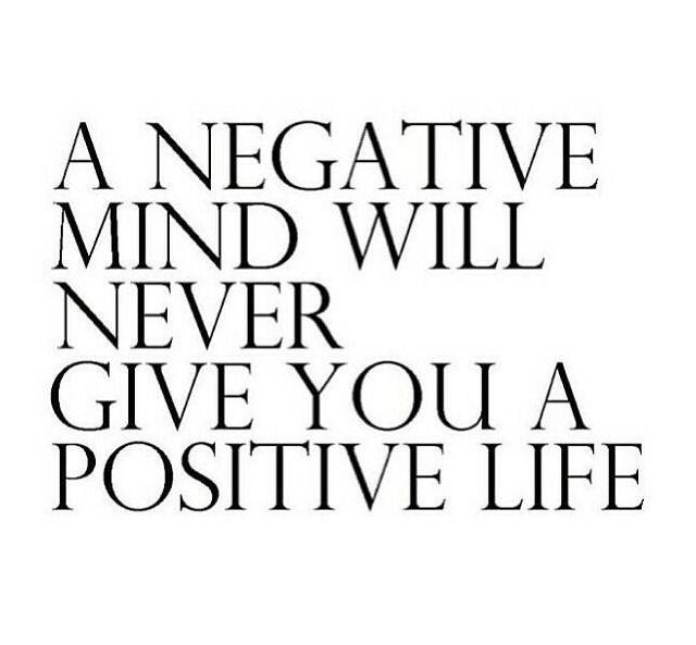 Positivity.  It's a wonderful thing